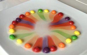 虹のお菓子 画像