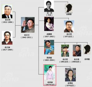金正日 家系図