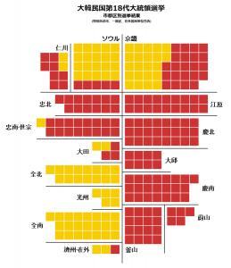 大統領選挙 分布図