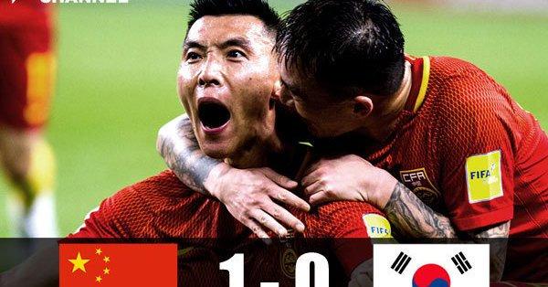 韓国 中国 W杯最終予選 画像